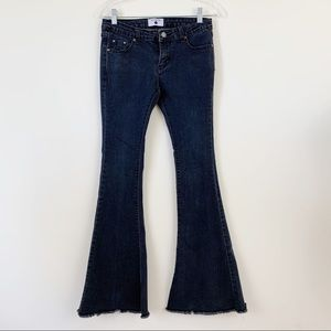 AC For AG Alexa Chung Flare Frayed Jeans